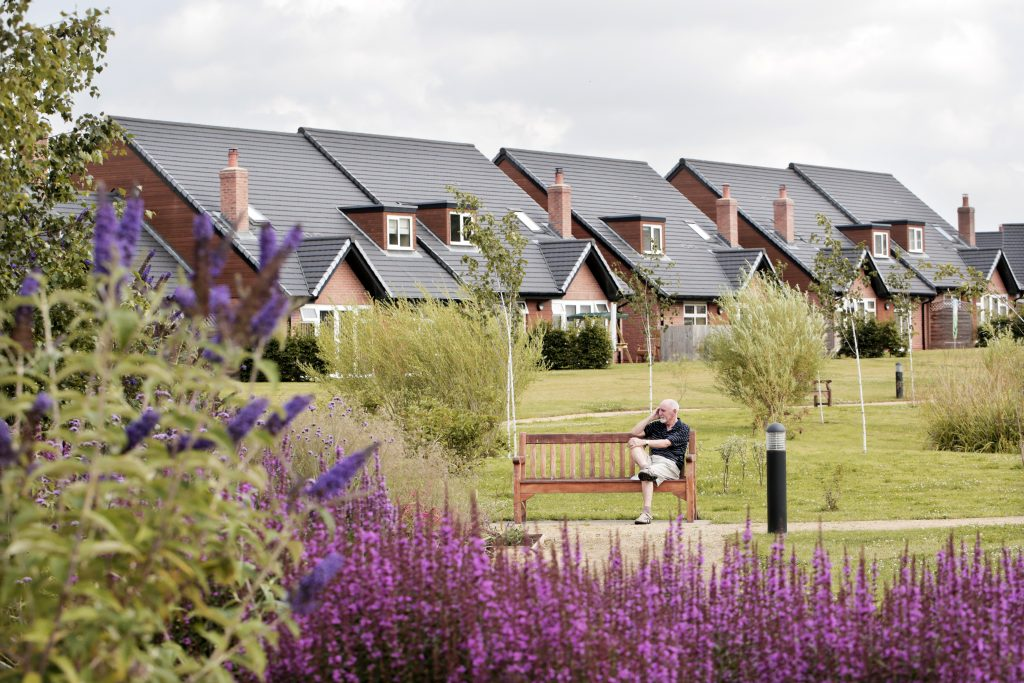 The Waterside bungalows at Middleton Hall Retirement Village